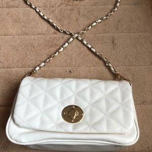 A brand new white crossbody bag